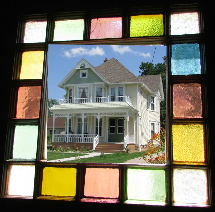 Larson House in Window