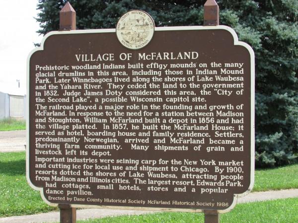 McFarland Marker history