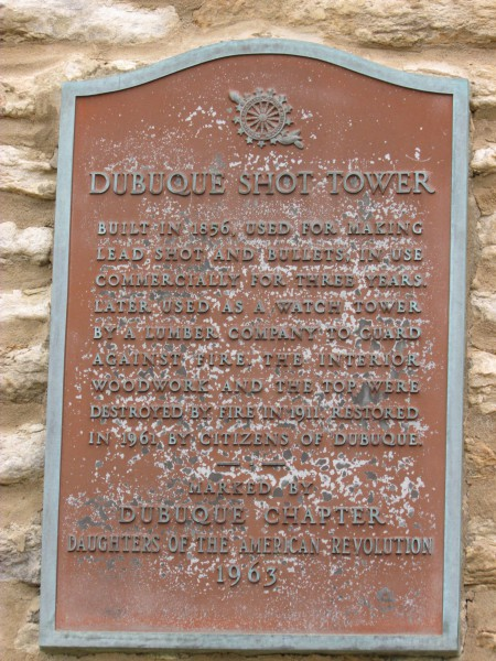 Shot Tower plaque
