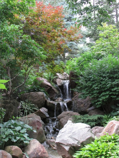 Waterfall at Dubuque Garden