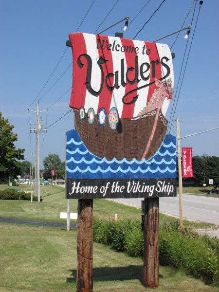 Valders Sign