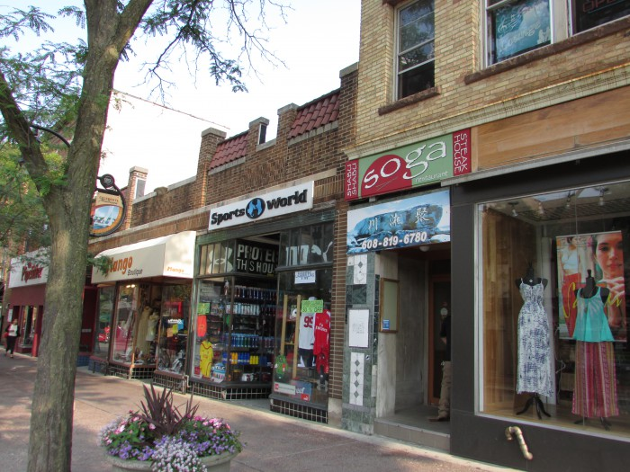 Businesses on 500 block of State Street Madison