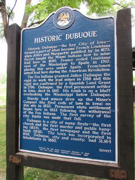 Historic Dubuque Marker