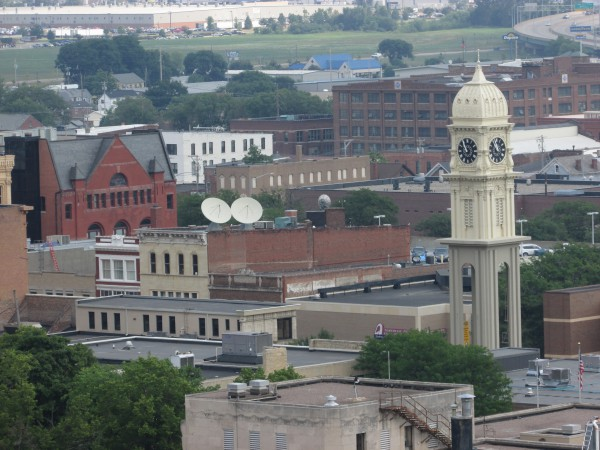 Dubuque Clock Tower view