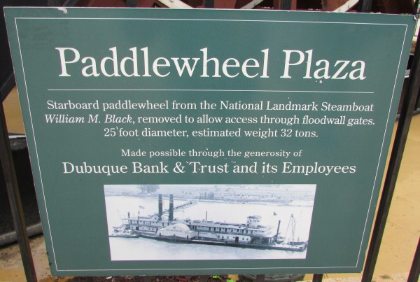 Paddlewheel Plaza sign