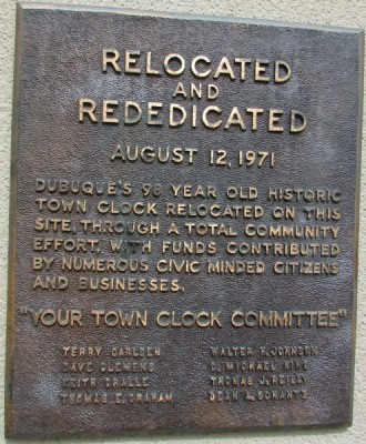 Town Clock plaque
