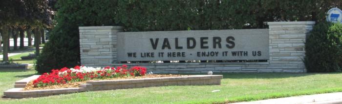 Valders Sign 2