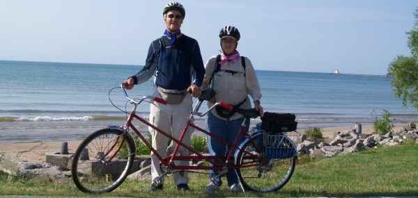 Al and Laurie on Mariners Trail in Manitowoc