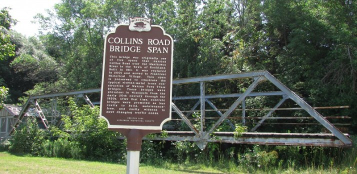Collins Road Bridge Span in Manitowoc