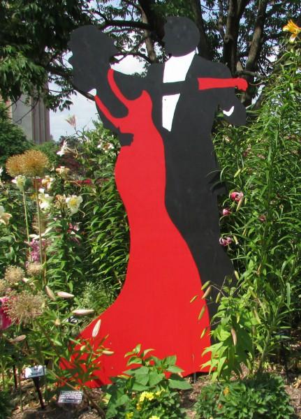 Dancer art at Allen Centennial Gardens