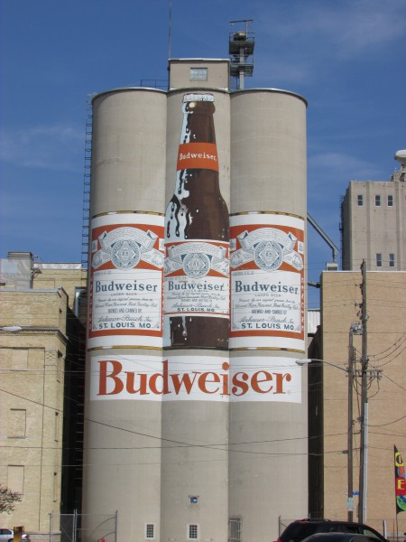 Budweiser Large Beer Cans and Bottle in Manitowoc