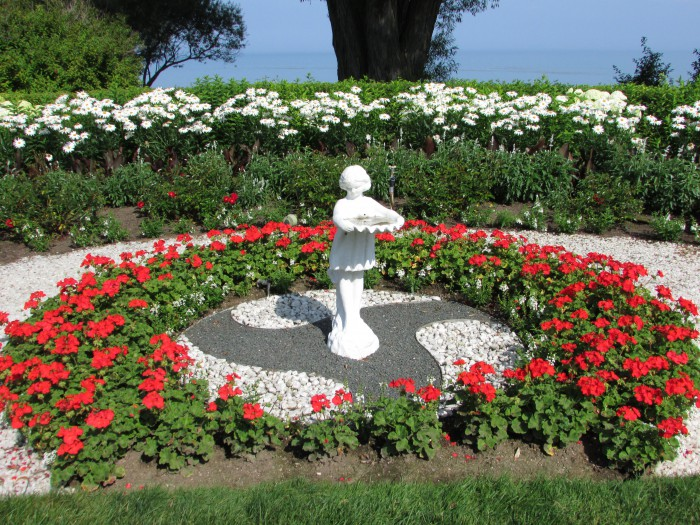 Red and White Garden at West of the Lake Gardens in Manitowoc