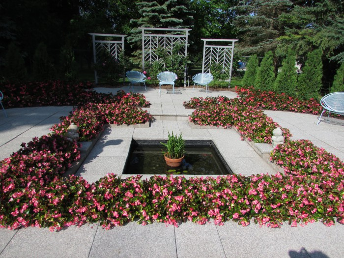 The Sunken Garden at West of the Lake Garden in Manitowoc