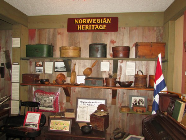 Norwegian display at McFarland Museum