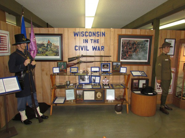Wisconsin Civil War display McFarland Museum