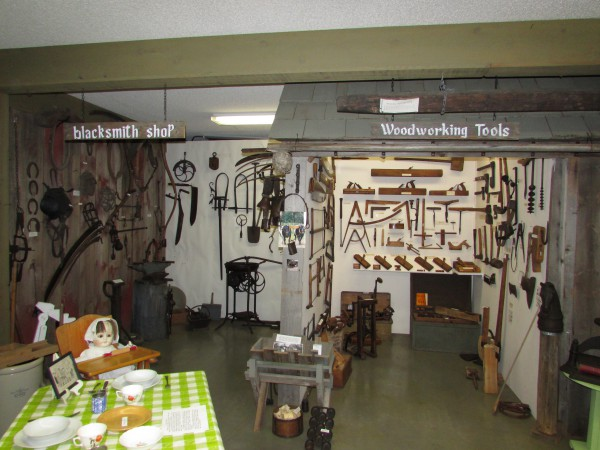 Blacksmith Shop and Woodworking tools at Mcfarland Museum