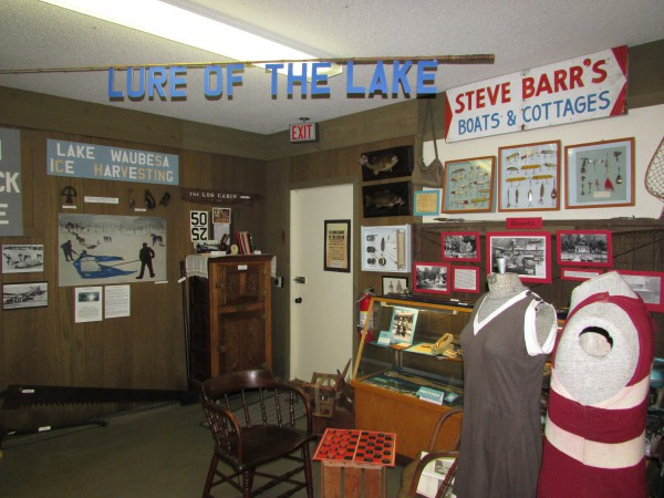 Summer Waubesa Lake display in McFarland Museum