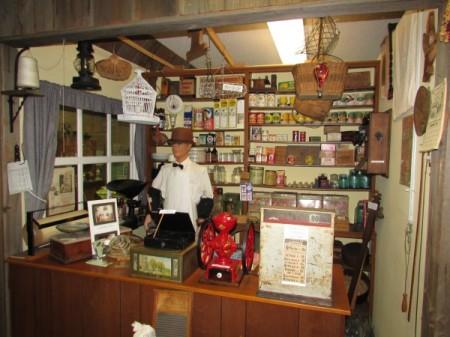 Inside General Store at McFarland Museum