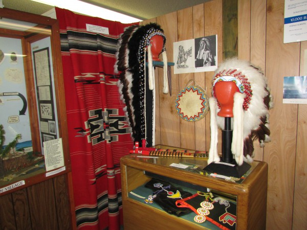 Native American display at McFarland Museum
