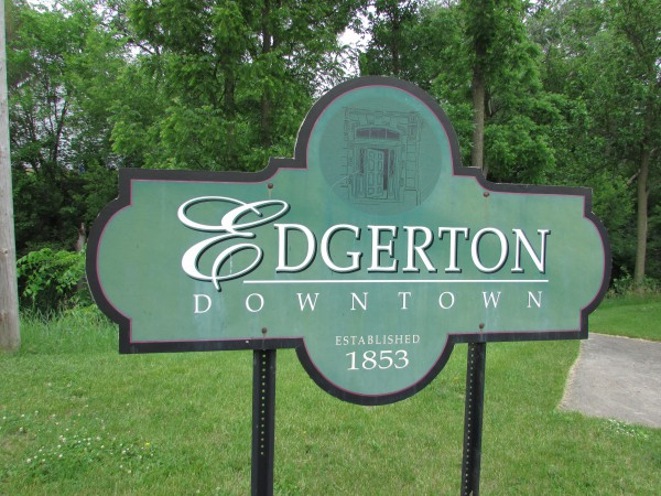 Downtown Edgerton sign