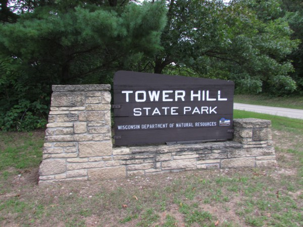 Tower Hill State Park sign