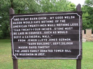 Jones family sign at Tower Hill