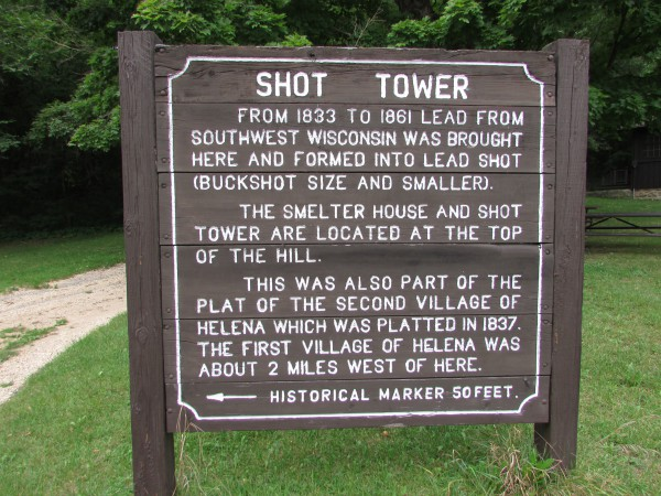 Shot Tower sign at Tower Hill