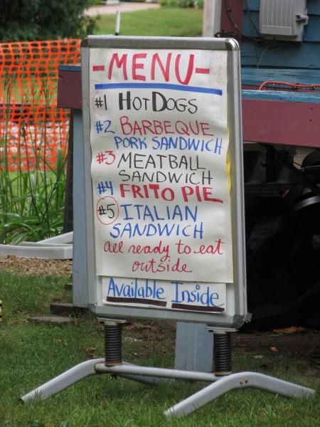 Beatle Fest lunch menu in Spring Green