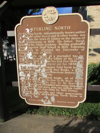 Sterling North Marker in Edgerton