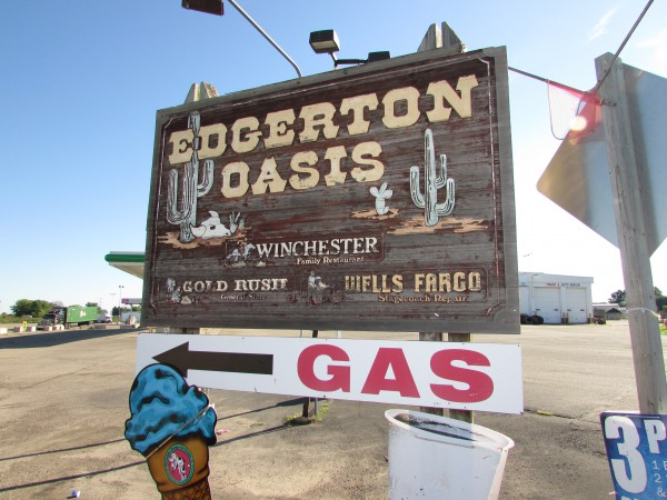 Edgerton Oasis sign
