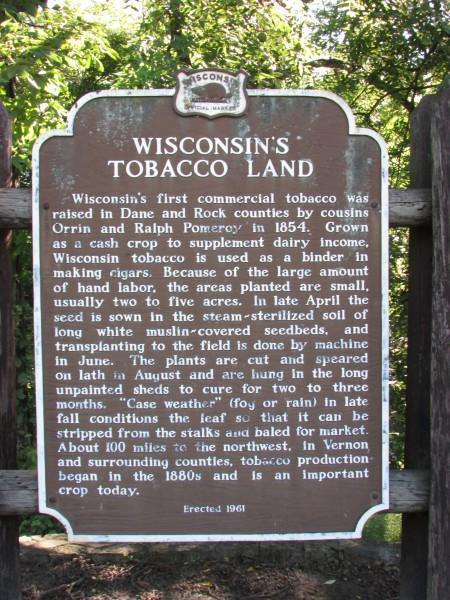 Edgerton Tobacco Lands marker