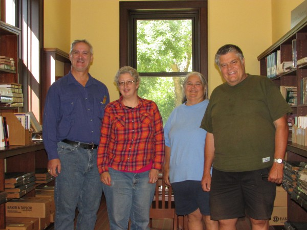 Larry and Bev Witzel and us in Edgerton