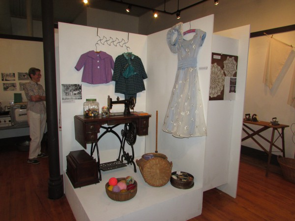 Sewing Display at Monticello Museum