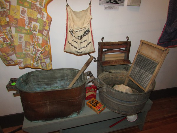 Laundry display at Monticello Museum