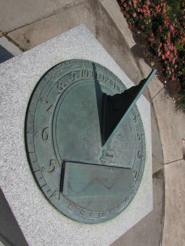Sundial at Allen Gardens
