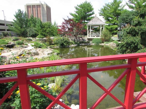 Gazebo and pond Allen Gardens