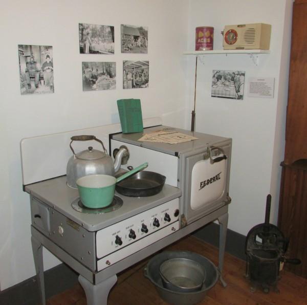 Kitchen display Monticello Museum