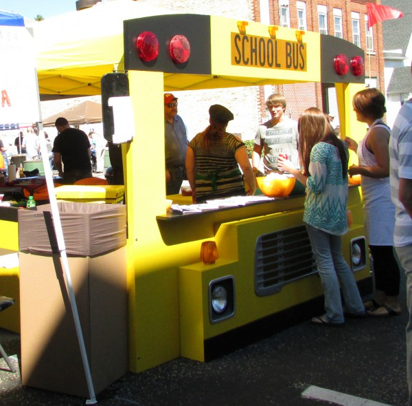 Schoolbus Booth at  Edgerton Chili Fest
