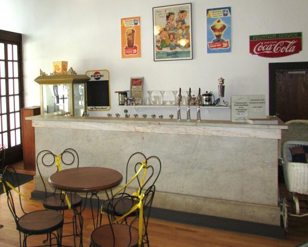 Soda Fountain in Montello Museum