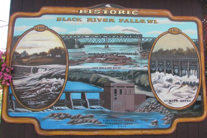 Black River Falls Dam Mural
