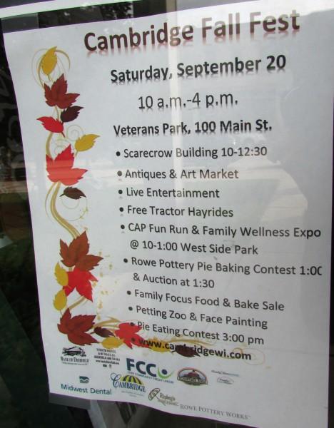 Cambridge Fall Fest Schedule