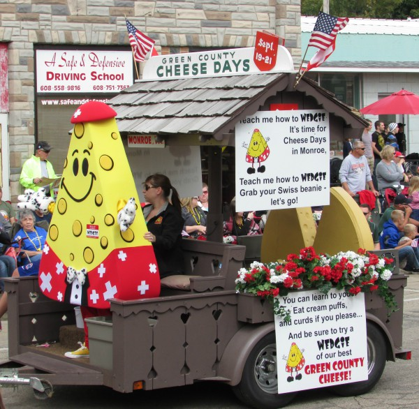 Cheese Days Wedgie mascot