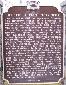 Delafield Fish Hatchery marker