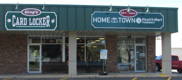 Greg's card Locker and Hometown Pharmacy in Verona