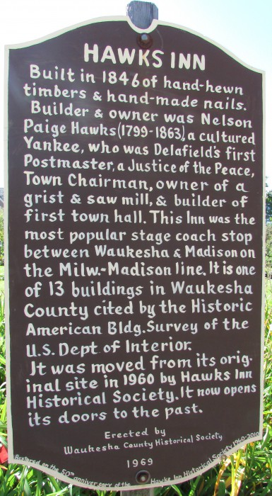 Hawk's Inn marker
