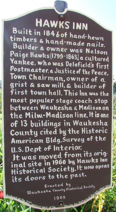 Hawk's Inn marker