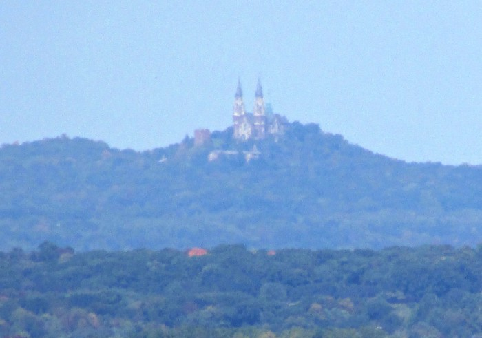 Holy Hill From Lapham Peak in Delafield