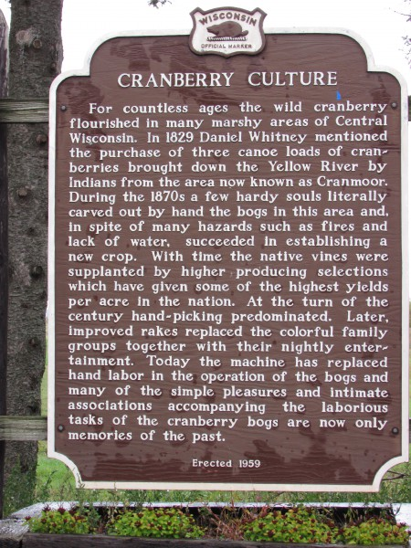 Branberry Culture marker in Jackson County