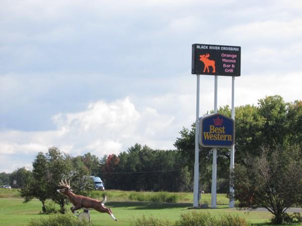 Black River Crossing sign in Black river Falls