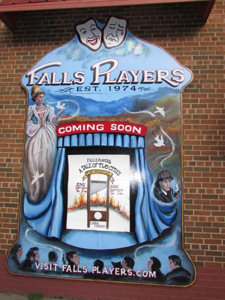 Black River Falls Players theater mural